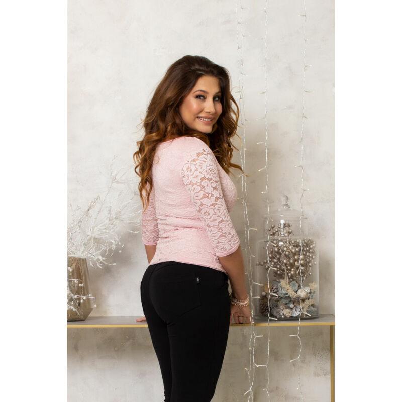 Eliza csipkés póló - rózsaszín/rózsaszín