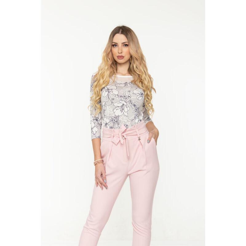 Helen póló - fehér/szürke/kék
