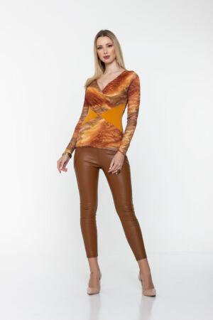 Lora póló - mustár/arany csipkés